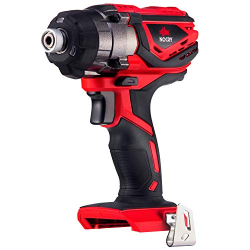 NoCry 20V Cordless Impact Driver - Bare Tool ONLY with 120 ft-lb (160 N.m) Torque, 3000 Max RPM/IPM, 1/4 inch Hex Chuck, LED Work Light & Belt Clip