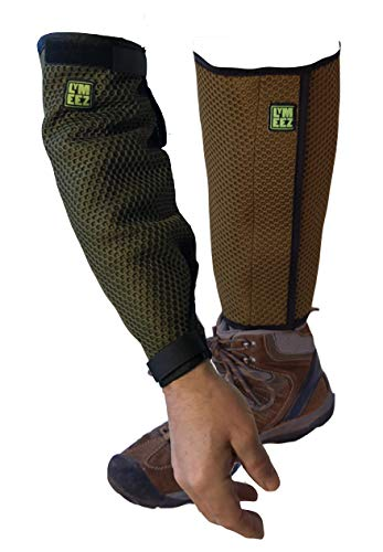 Lymeez 3D Mesh Tick Repelling Gardener's ARM & Leg Gaiters for -New Combo Pack. Treated with Microencapsulated Permethrin. Repels Ticks That May Carry Lyme Disease. Smart & Easy Tick Bite Protection.