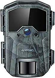APEMAN Trail Camera 20 MP 1080P Full HD Game Camera Night Vision Up to 60ft Motion Hunting Camera with 40PCS I