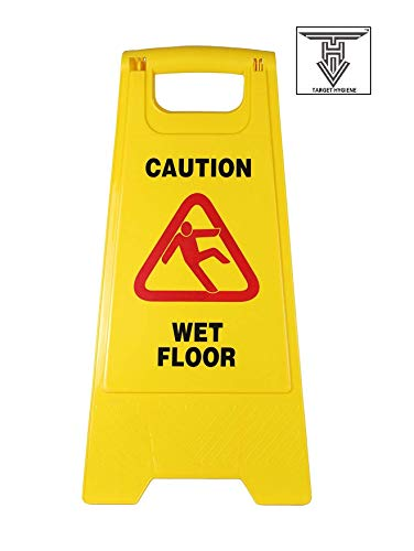 TARGET HYGIENE™ Original ABS-Plastic Caution Standing Board (Yellow Sign Board Wet Floor Sign) Price & Reviews
