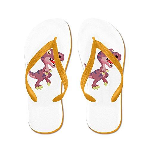 Virkelig Teague Menns Søt Lilla T-rex Dinosaur Gummi Flip Flops Sandaler Oransje