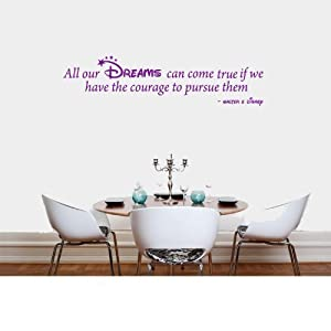 Charming Wall Art Desire® DISNEY DREAMS QUOTE KIDS BEDROOM LIVING ROOM WALL ART  VINYL DECAL STICKER 14 COLOURS AVAILABLE Part 22