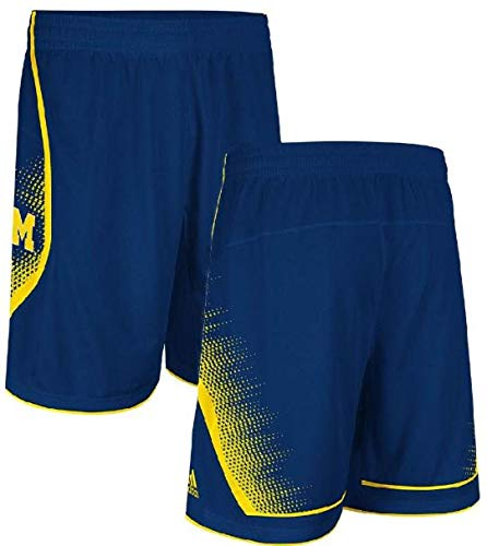 adidas Michigan Wolverines Youth Replica Basketball Shorts