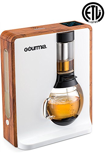 Gourmia GTC8000W Electric Coffee & Tea Brewing System - Loose Leaf Tea Infuser Machine - Automatic Brew Settings - Stainless Steel Mesh Filter - 4 Cup / 32 oz Glass Carafe - 1000W - Brown