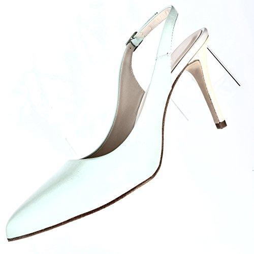 JAY KAPLAN 400 Dollar Womens All Leather Made in Spain Simply Elegant High Heel Sling Back, Zoe Spain Womens Heels Shoes