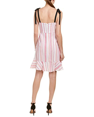 Donna Pink 4 Blend Womens Dress Morgan Shift Linen wxzFAg4wnq
