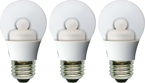 GE Lighting 63012 Energy Smart LED 3-Watt (15-watt replacement) 120-Lumen A15 Light Bulb with Medium Base, 3-Pack