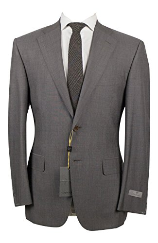 canali-brown-striped-wool-2-button-suit-size-48-38-short