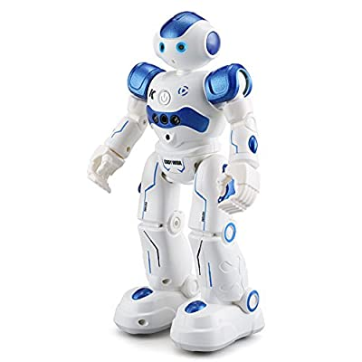 BTG R2 Cady-Wida Cady-Wini Intelligent Gesture Sensor Control RC Robot for Entertainment - Walks in All Direction, Slides, Turns Around, Dances - Toy for Boys/Girls BLUE