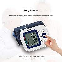 Tensiómetro de brazo USB de carga, EW-1510 de presión arterial y pulso AM brazo Brazo - Tensiómetro con manguito grandes 22 - 42 cm, alta precisión Salud ...