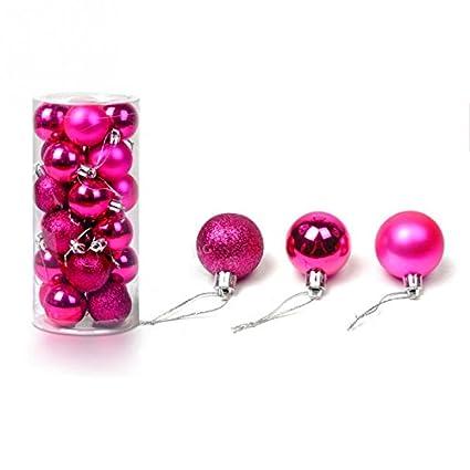24pcs 40mm Shatterproof Christmas Balls Ornaments Xmas Tree Hanging Decors for Party Wedding Ceremony Garden Home Decoration (4cm/1.57, Blue) Dende