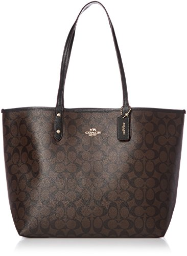Coach Signature Reversible PVC City Large Tote Bag ()
