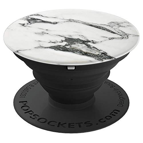 White Marble Pop Rock Mineral Onyx Stone Gemstone Gem Jewel - PopSockets Grip and Stand for Phones and Tablets