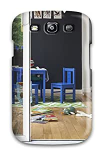 Susan Rutledge-Jukes's Shop Hot 4778005K86034256 For Galaxy Protective Case, High Quality For Galaxy S3 Black Playroom With Sliding Glass Doors 038 Blue Kids8217 Chairs Skin Case Cover