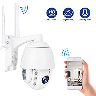 3G/4G 1080P Security Surveilance Camera System CCTV, Bi-Directional Audio Dome IP Camera, Night Vision Outdoor Security Camera Auto Focus(US Plug)