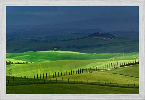 - Easy Art Prints Adam Jones's 'Rolling Agricultural Fields' Premium Framed Canvas Art - 24