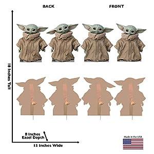 Advanced Graphics The Child (Set of 4) Life Size Cardboard Cutout Standup – Disney's Star Wars: The Mandalorian