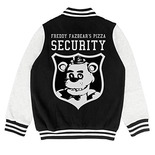 Five-Funny-Nights-at-Freddys-Freddy-Fazbear's-Pizza-Security- Kids Baseball Jacket Cartoon Jersey -