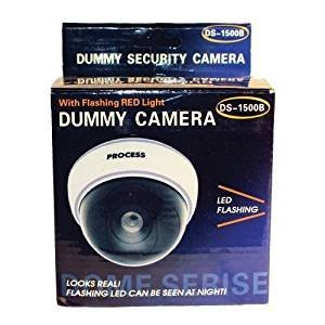 Safety Technology DM-WHTCM DUMMY DOME CAMERA WITH LED AND WHITE BODY