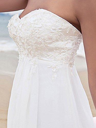 Elfenbein Brautkleider Boho Strand hochzeitskleid Böhmischen Mingxuerong Lange Spitzen Umstandsmode Chiffon zCxqT