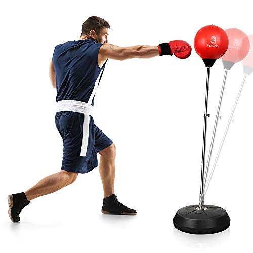 Punching Bag with Stand Freestanding Boxing Bag, Dprodo Adjustable Speed Reflex Training Bag for Adults Kids Plus Boxing…