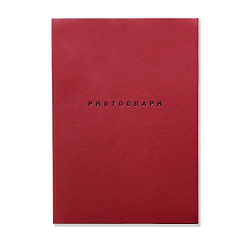 """Soft Leather Self Adhesive Photo Album Book, Scrapbooking Scrapbook Magnetic Album , Hardcover, 40 Pages Holds 3X5, 4X6, 5X7, 6X8 photos, 8.35""""X11.7"""" (Burgundy)"""