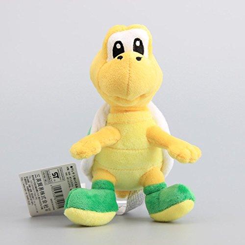 Super Mario Bros Koopa Troopa Skeleton Koopas Trumpet Turtle Green 6 Inch Toddler Stuffed Plush Kids Toys