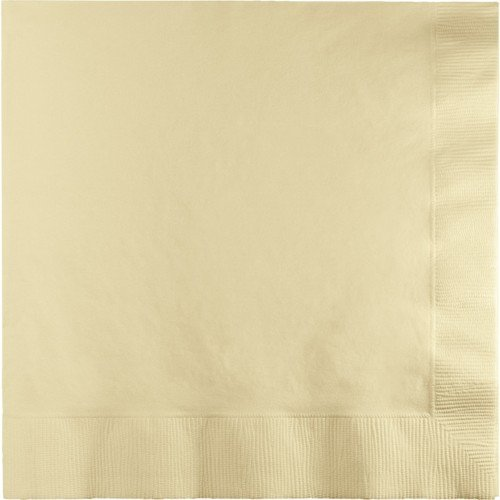 250-Count Touch of Color 3-Ply Paper Dinner Napkins, Ivory ()