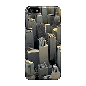 Awesome Living Poet Defender Tpu Hard Case Cover For Iphone 5/5s- Skyscraper