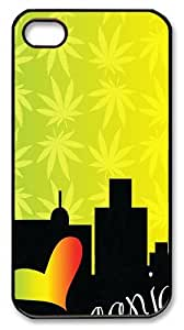 Ganja City PC Case Cover for iPhone 4 and iPhone 4s ?¡ìC Black