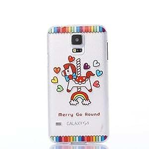 Zaki- Color Decoration HoZaki-yhorse Pattern Plastic Hard Case for Samsung S5 I9600