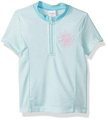 Gymboree Little Girls' Colorblock Raglan Rashguard, Sweet Mint, L