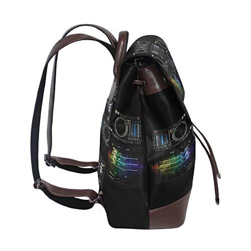 Kvinnor PU-läder Dj ryggsäck handväska resa skola axelväska ledig dagväska