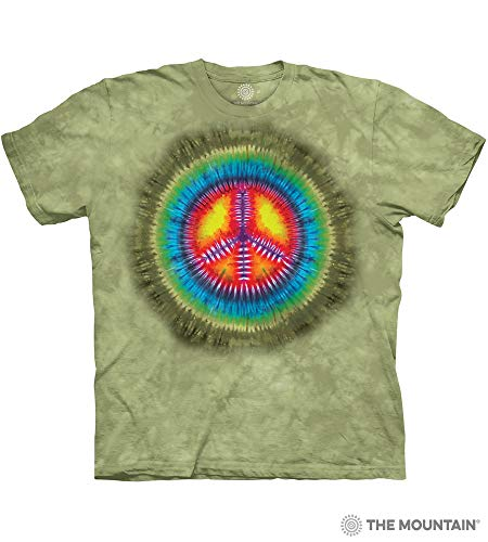 The Mountain Peace Tie Dye Adult T-Shirt, Green, 2XL ()