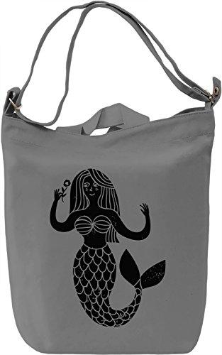 Mermaid Borsa Giornaliera Canvas Canvas Day Bag  100% Premium Cotton Canvas  DTG Printing 