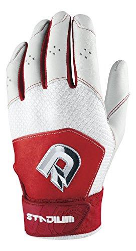 DeMarini Men's Stadium II Batting Gloves, Scarlet,