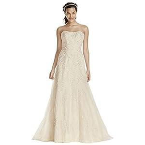 Jewel Lace A-Line Wedding Dress with Beading Style WG3755