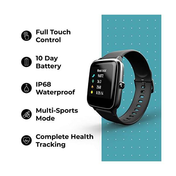 41LG8Lr5meL Noise Colorfit Pro 2 Full Touch Control Smart Watch Jet Black