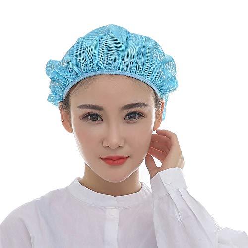 2 Piece Industrial Net - Xuxuan 2PCS Unisex Mesh Caps Industrial Workshop Protective Working Elastic Kitchen Hats Hair Net