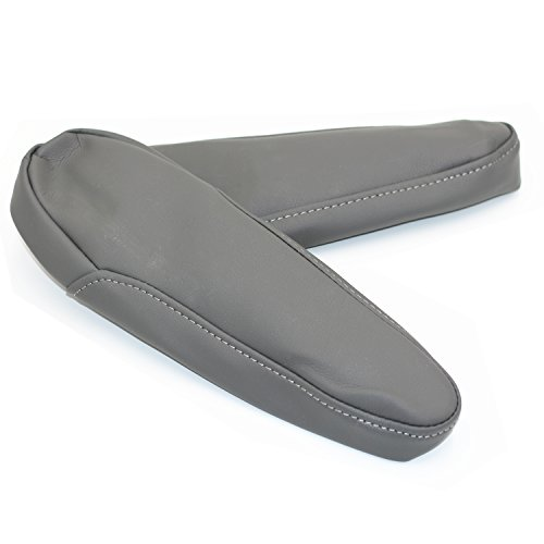 Ezzy Auto Gray Leather Seat Armrest Covers For 2005-2010 Honda Odyssey (Leather Part Only)