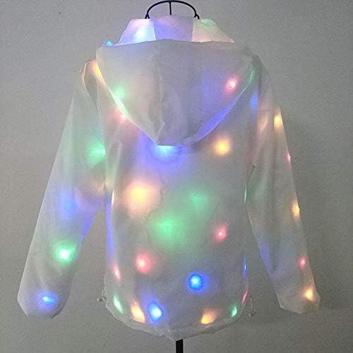 smzzz Abbigliamento Luminoso LED Giacca Leggera da Cappotto Felpa con Cappuccio da Ballo di Halloween all\'aperto Moda Flash