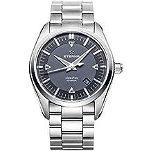 Eterna KonTiki Date Automatic Watch, SW 200-1, Grey, Steel bracelet
