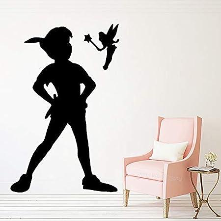 guijiumai Peter Pan Fairy Nursery Decor Vinilos Decorativos Vinilo ...