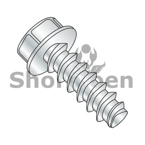Unslotted Indent Hex Washer Header Plastite Alternative 48-2 Fully Threaded Zinc and Baked & Wax 8-16 x 1/4 (Box of 10000) weight31.8Lbs by Korpek.com