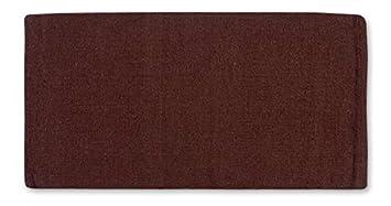 mayatex ranger hogan solid saddle blanket brown 36 x 34inch