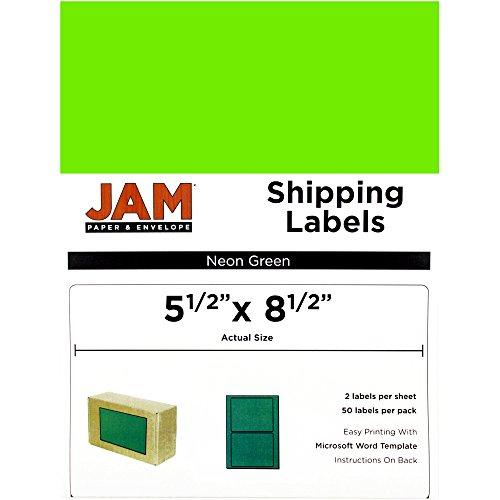 - JAM Paper Shipping Labels - Half Sheet - 5 1/2