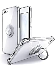 Silverback for iPod Touch 7 Case, iPod Touch 6 Case,iPod Touch 5 Case Clear with Ring Kickstand, Protective Soft TPU Shock -Absorbing Bumper Shockproof Phone Case for Apple iPod Touch7/6/5 -Clear