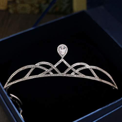 (Gorgeous Bride Zircon Crown Women Crystal Tiaras Wedding CZ Diademe Head Jewelry Bridal Headdress Party Pageant Headbands CR071)