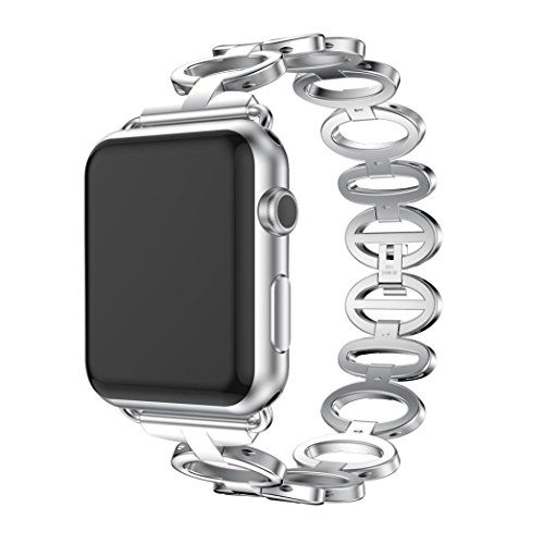 - Gotd Replacement Stainless Steel Bracelet Smart Watch Band Strap For Apple Watch 1/2 42mm (silver)