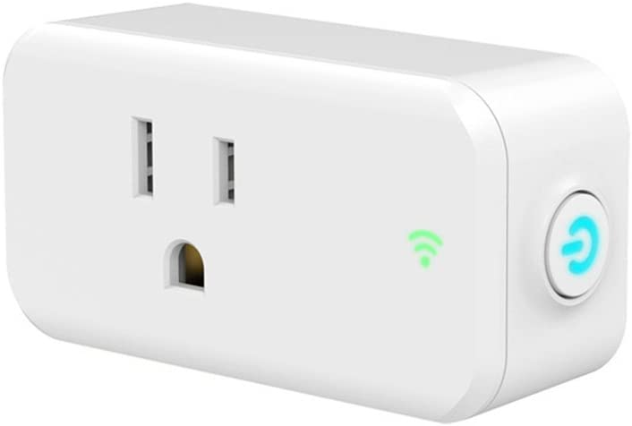 Lzcat Mini WiFi Smart Plug App Remote Control Devices from Anywhere, No Hub Needed, FCC and ETL Complied, Works with Alexa and Google Assistant for voice control, Occupies Only One Socket (White)